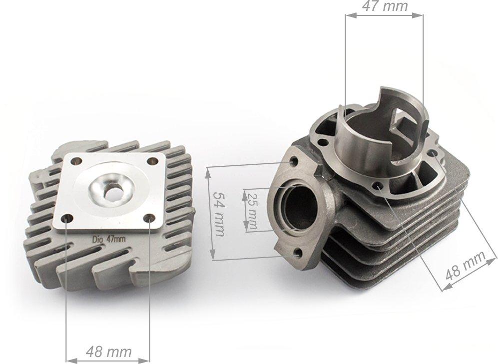 Honda Dio AF18 cilindra grupa 47 mm ar galvu (Taivāna)
