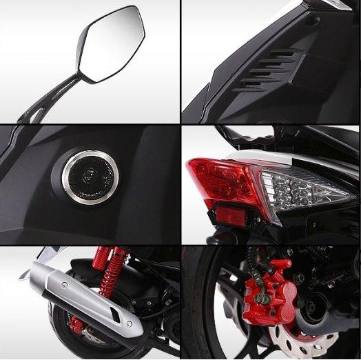 Motorollers ZNEN ZN50QT A9 melns
