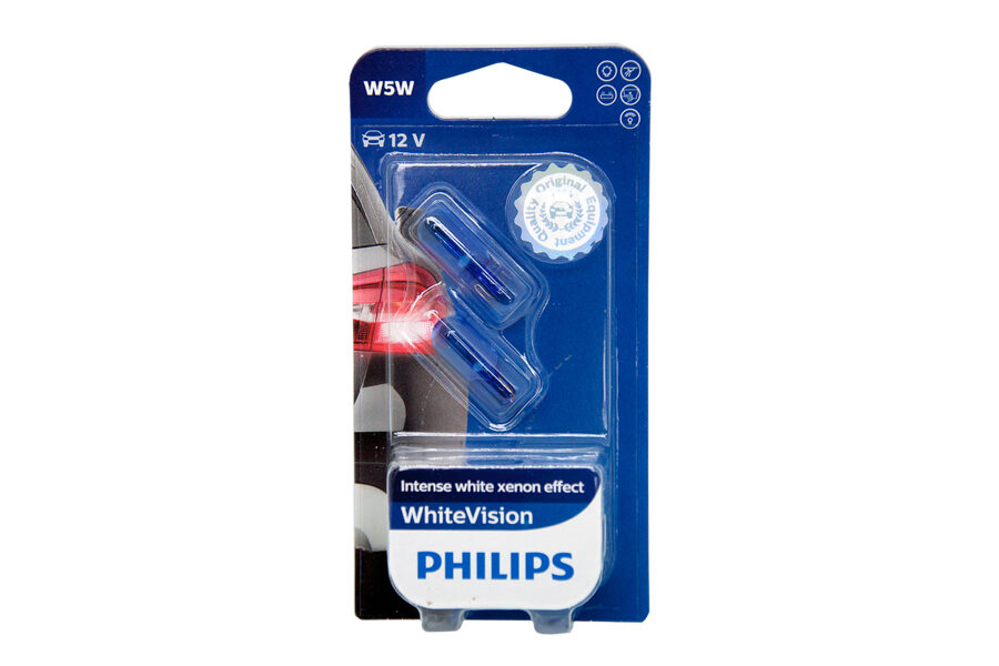 Spuldzes Philips W5W White Vision