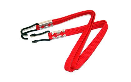 Elastīga siksna Pro Supergo ar diviem āķiem, sarkana