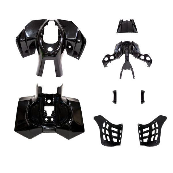ATV plastmasas komplekts (melns) HB ATV 50 R