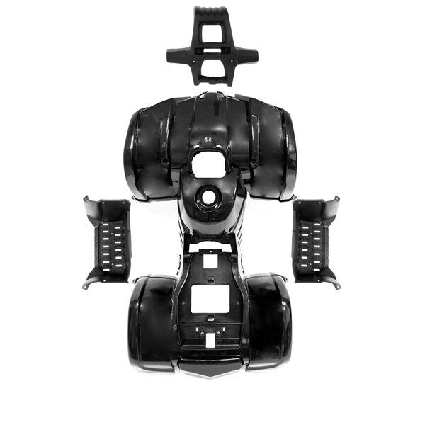 ATV plastmasas komplekts HB ATV 50 N (melns)