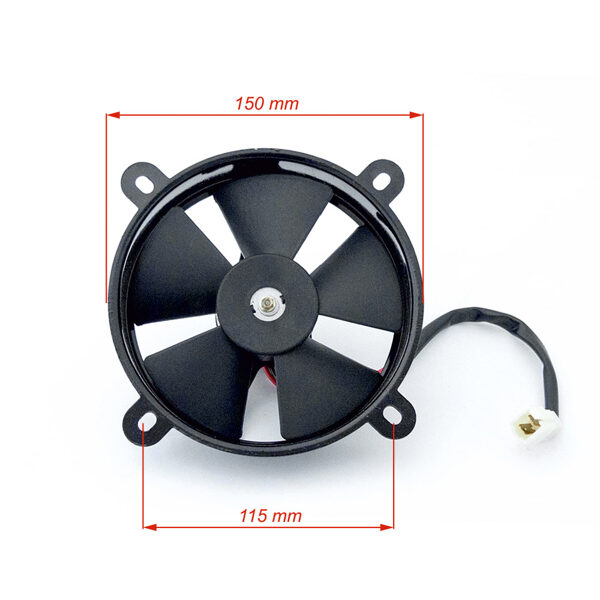 ATV dzesēšanas ventilators metāla