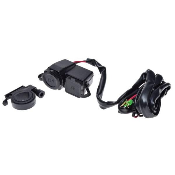 Motociklu USB lādētāja ligzda