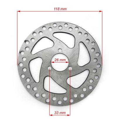 Mini Bike bremžu disks 118 mm