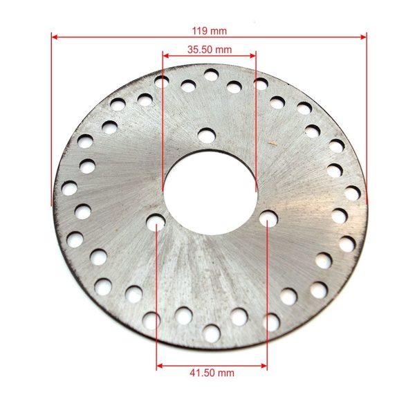 Mini Bike bremžu disks 119 mm