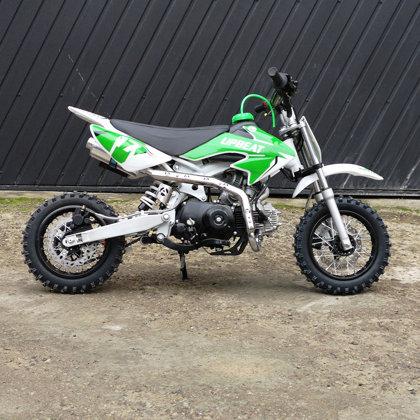 Bērnu krosa motocikls ABTDB110-1 (10-10'' riteņi) elektriskais starteris