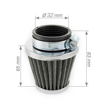 Gaisa filtrs koniskais 32mm