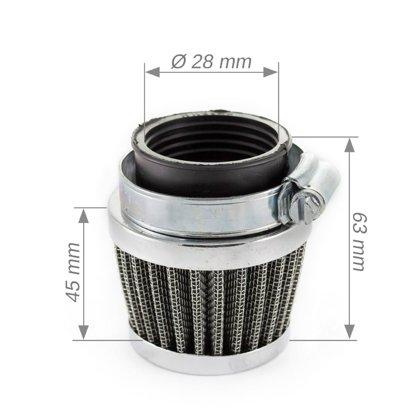 Gaisa filtrs koniskais 28mm