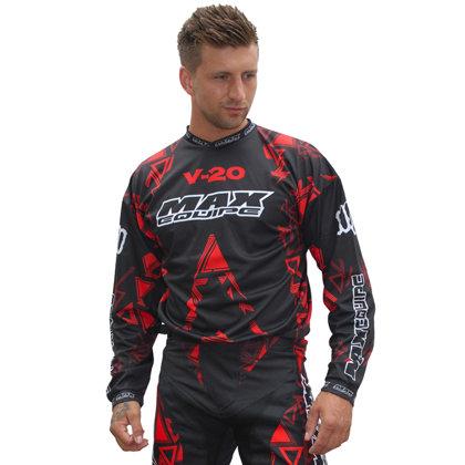 Krekls M/X Wulfsport Max V20 sarkans