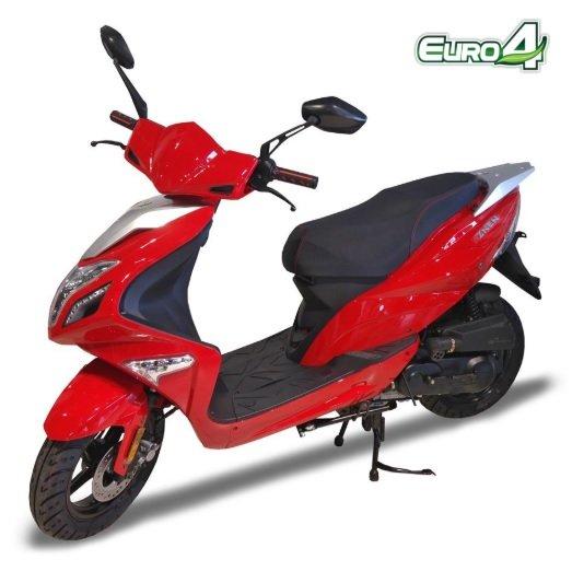 Motorollers ZNEN ZN50QT R8 sarkans
