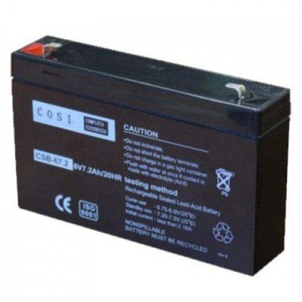 6V 7.2Ah/20 HR želeja akumulators 151x34x94 mm